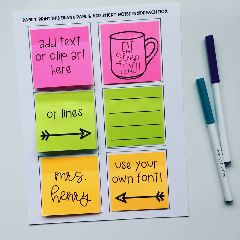 photo about Editable Post It Note Template called generate your individual coaching products (Immediate!)